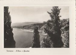 14659) TAORMINA L'ETNA E I GIARDINI VIAGGIATA 1953 - Messina