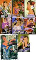 Ref. 258115 * NEW *  - SPAIN . 2003. PAINTINGS BY ALFREDO ROLDAN. THE WOMAN AND THE FLOWERS. PINTURAS DE ALFREDO ROLDAN. - 1931-Aujourd'hui: II. République - ....Juan Carlos I