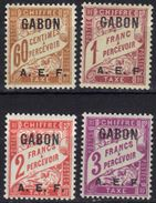 Gabon Timbres Taxe N° 8, 9, 10, 11 * - Gabon (1886-1936)