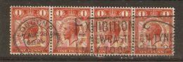 Grande-Bretagne - 1929 -  UPU - YT 180 X 4 - Cachet Londres - Cachet Saisonnier Expo Newcastle On Tyne - Marcophilie - EMA (Empreintes Machines)
