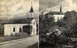 77 PONTHIERRY - Semi-Moderne - Deux Aspects De La Chapelle Paroissiale - CPSM - Saint Fargeau Ponthierry