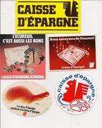 Autocollant    -      Lot De 5  -   CAISSE D'EPARGNE ECUREUIL - Autocollants