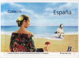 Ref. 239920 * NEW *  - SPAIN . 2010. TOURISM. WOMAN WEARING MANILA MANTEL. TURISMO. MUJER CON MANTÓN DE MANILA. - 1931-Aujourd'hui: II. République - ....Juan Carlos I
