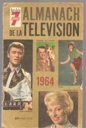 Almanach De La Télévision 1964 Sur La Couverture JOHNNY HALLIDAY Et SHEILA - Calendriers