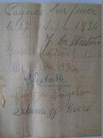 AD040.21  France -Cagnes Sur Mer - Autographs 1934 - Autographes