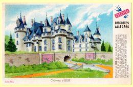 """Buvard Grégoire, Biscottes Allégées. Biscottes """" Aux Martinets """". Illustration : Le Château D'Ussé. - Biscottes"""