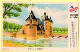 """Buvard Grégoire, Biscottes Allégées. Biscottes """" Aux Martinets """". Illustration : Le Château De Lassay. - Biscottes"""