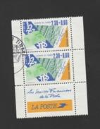 FRANCE / 1990 / Y&T N° 2640 : J. Du Timbre (Services Financiers) De Carnet Avec Bords X 2 En Paire - Cachet Rond - France