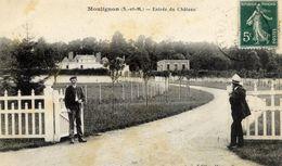 77 MOULIGNON - Entrée Du Château - Animée - (Saint-Fargeau-Ponthierry) - Saint Fargeau Ponthierry
