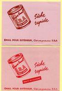 Lot De 4 Buvards E.B.A. Peinture émail Pour Extérieur. Couleurs Différentes. 2 Photos. - Paints