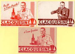 Lot De 3 Buvards Clacquesin Liqueur Et Apéritif. Couleurs Et Illustrations Différentes. - Paints