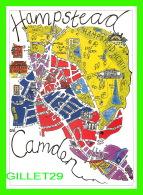 CARTES GÉOGRAPHIQUES - MAPS -  HAMPSTEAD & CAMDEN, LONDON, UK - 1997  GOTHIQUE PRESS - DIMENSION 12 X 18 Cm - - Cartes Géographiques