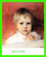 ENFANTS - HELENA SCHJERFBECK, FINLANDE  - FLICKAN SOM BER SIN AFTONBON 1885 - DIMENSION 12 X 15 Cm - - Portraits
