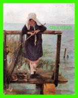 ENFANTS - HELENA SCHJERFBECK, FINLANDE  - ONKIVA TYTTO METANDE FLICKA, 1884 - DIMENSION 12 X 15 Cm - - Portraits