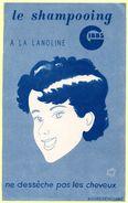 Buvard Shampoing GIBBS à La Lanoline. Illustration Jean Bellus. - Parfums & Beauté