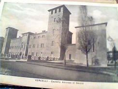 2 CARD  VERCELLI CASTELLO E PANORAMA N1942   GJ18454 - Vercelli
