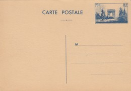 CARTE ENTIER ARC DE TRIOMPHE 70c NEUVE - Standaardpostkaarten En TSC (Voor 1995)