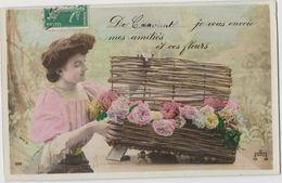 CRAVANT  (45) - CPA - De ... Je Vous Envoie Mes Amitiés - GROS Ph. 692 - Panier Fleurs - France