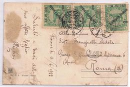 Occ. Fiume - C. V. Emanuele III -  Piega E Ossidazioni - Bolli Sovrastampati Costituente Fiumana - V.1922 - 8. Ocupación 1ra Guerra