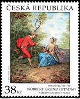 Czech Republic - 2017 - Art On Stamps - Norbert Grund - The Tempter - Mint Stamp - Czech Republic