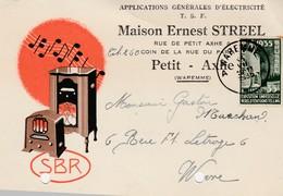 PETIT - AXHE ,carte Publicité ,Ernest Streel ,SBR ,électricité ,T S F ,radio - Borgworm