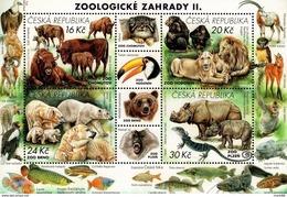 Czech Republic - 2017 - Nature Protection - Zoological Gardens II - Mint Souvenir Sheet - Czech Republic