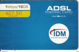 LEBANON - IDM Internet Prepaid Card $27.50, Exp.date 31/12/14, Used - Liban