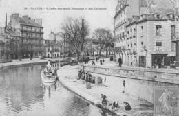 NANTES  L ERDRE AUX QUAIS DUQUESNE ET DES TANNEURS - Nantes