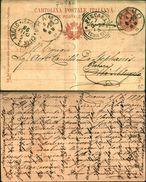 7619a)cart. Post.-regno  UmbertoI 10cent.da Ramo X Citta' S.angelo-pescara 5-6-98-m/97 - Ganzsachen