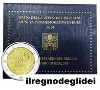 CITTA' DEL VATICANO  - ANNO 2014 - 2€  - 25° Anniversario Del Crollo Del Muro Di Berlino In Folder - Vaticano