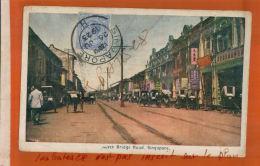 CPA  ASIE SINGAPOUR North Bridge Road-  SINGAPORE  1923  Timbre Obliteré 1923  Tampon Manuel    NOV  2017 619 - Singapore