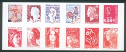 France, Faces Of The Fifth Republic, 2008, MNH VF  Booklet Of 12 Self-adhesive - Booklets