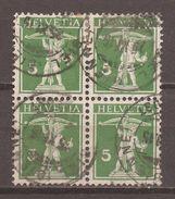 Schweiz Mi.113  Viererblock - Schweiz