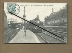 CPA  - Paris XVIIe - Gare Des Batignolles - Quai De Ceinture  -(train , Locomotive ) - Stations, Underground