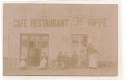 Chatillon Sur Chalaronne -   Café Restaurant Rippe JH  - TRES  RARE  -  CPA° - Châtillon-sur-Chalaronne