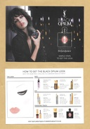 Carte Promo Publicitaire Adversiting Card Make Up YVES SAINT LAURENT YSL * R/V - Perfume Cards