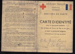 CARTE D' IDENTITE POUR LE PERSONNEL MILITAIRE DE L' ARMEE  RESISTANCE OCCUPATION SECONDE MEDECIN CHIRURGIEN - Non Classés