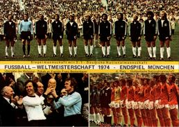 !Ansichtskarte München, Fußball Weltmeisterschaft 1974, Deutschland, Holland, Pokal, Franz Beckenbauer - Voetbal