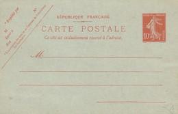 ENTIER CARTE 10c SEMEUSE / 951 - Zonder Classificatie