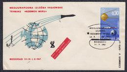"""Yugoslavia 1967 Exhibition """"Kosmos Miru"""" In Beograd, Cover - Briefe U. Dokumente"""