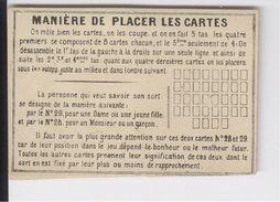 """Cartomancie  """"Manière De Placer Les Cartes"""" Petit Carton Vers 1920-1930? - Religion & Esotericism"""