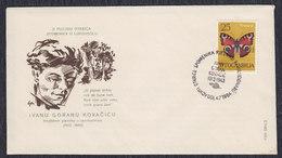 Yugoslavia Croatia 1964 Poet Ivan Goran Kovacic, Cover - Briefe U. Dokumente