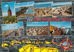 Postcard Grusse Von Den Ostfriesischen Inseln PU 1973 My Ref B22059 - Germany