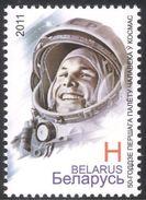 2011 - BIELORUSSIA - 50mo ANN. DEL PRIMO VOLO UMANO NELLO SPAZIO / 50th ANN. OF THE FIRST HUMAN FLY IN THE SPACE. MNH - Bielorussia