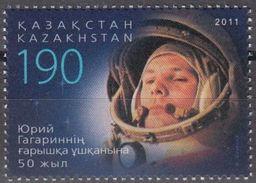 2011 - KAZAKHSTAN - 50mo ANN. DEL PRIMO VOLO UMANO NELLO SPAZIO / 50th ANN. OF THE FIRST HUMAN FLY IN THE SPACE. MNH - Kazakistan
