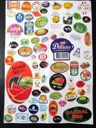 LOT DE VIGNETTES ETIQUETTES DIFFERENTES FRUITS LEGUMES POMMES BANANES MELON ORANGES POIRES Etc ... - Fruits Et Légumes