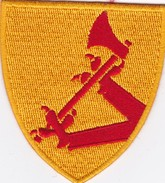 T 4)  Écusson Tissu Militaire (Format Largeur 7 Hauteur 7.5 - Ecussons Tissu