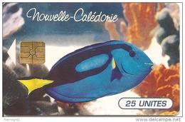 CARTE-PUCE-NOUVELLE-CALEDONIE-25U-NC36A-GEM B-11/1995-POISSON TROPICAL-Sans N° LOT-TBE - New Caledonia