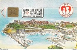 CARTE°-PUBLIC-MONACO-120U-MF23-GEM A-04/92-SPA MONACO-UTILISE-TBE - Monaco