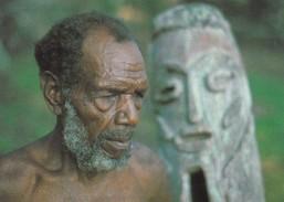 Postcard Vanuatu Vao Island Chief With Tam Tam  My Ref B22062 - Vanuatu